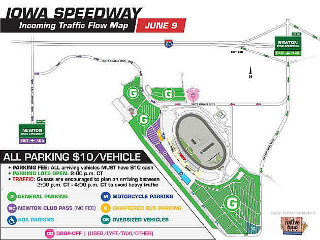 Iowa Speedway - Concert Incoming traffic