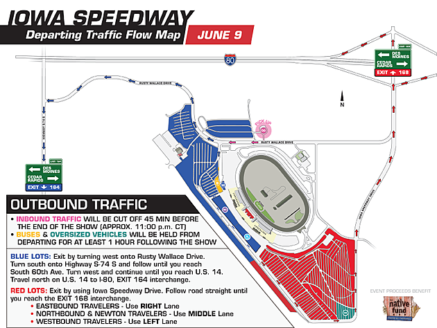 Iowa Speedway Departing Traffic