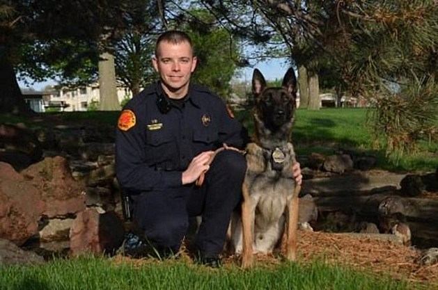 Tyler Brownell & K-9 Jason / Courtesy: Waterloo Police Dept.